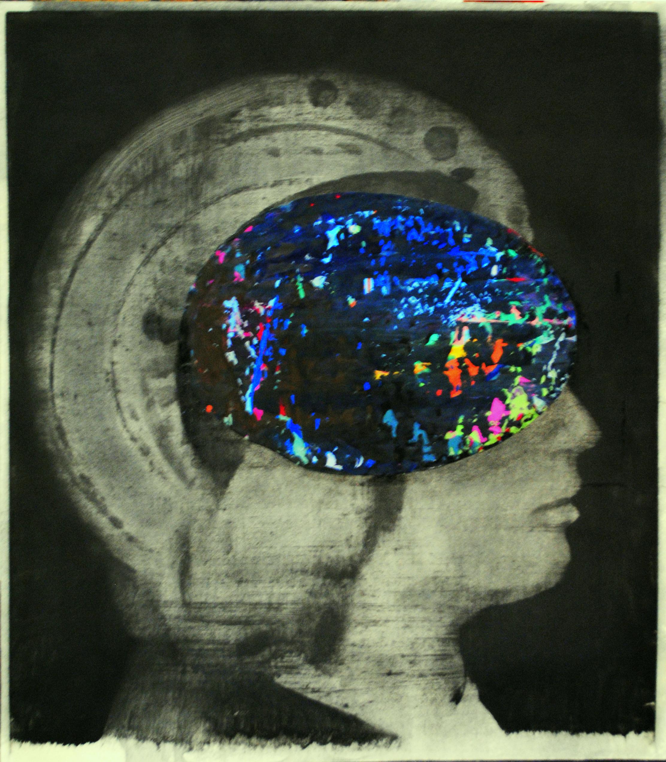 Da e per Antonello, tecnica mista su carta, 39x34.5 cm, 2011/13.