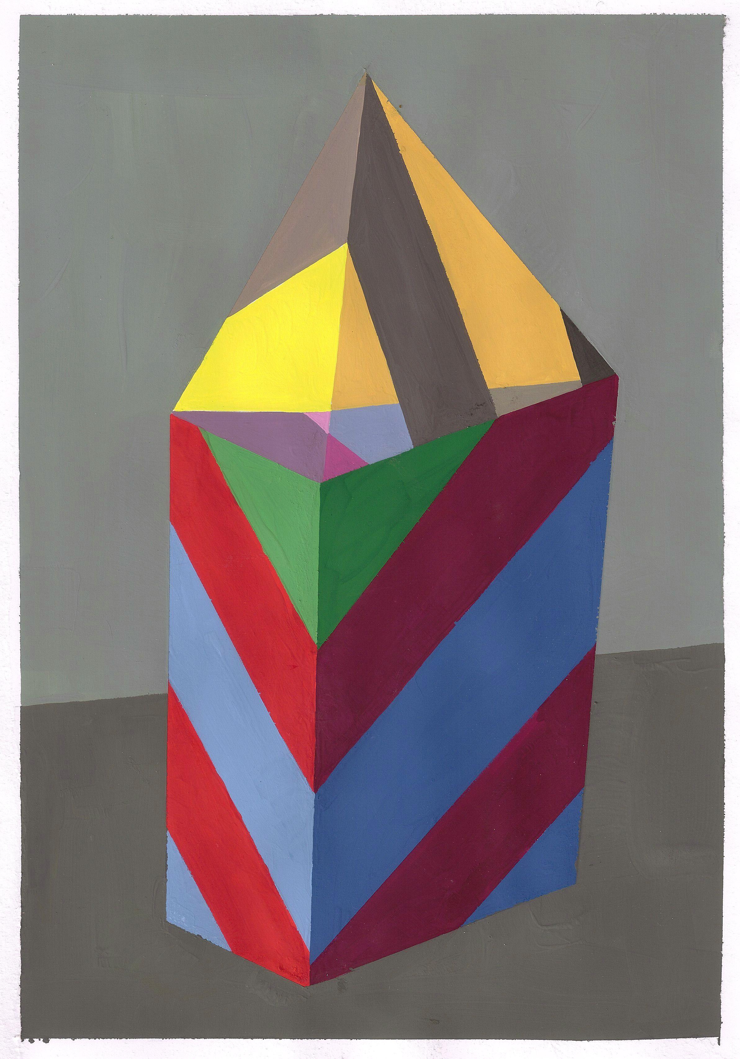 Senza titolo, tempera su carta, cm 29,7x21, 2011