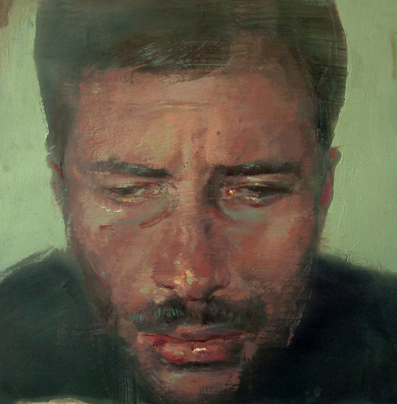 Autoritratto, olio su carta, 2006