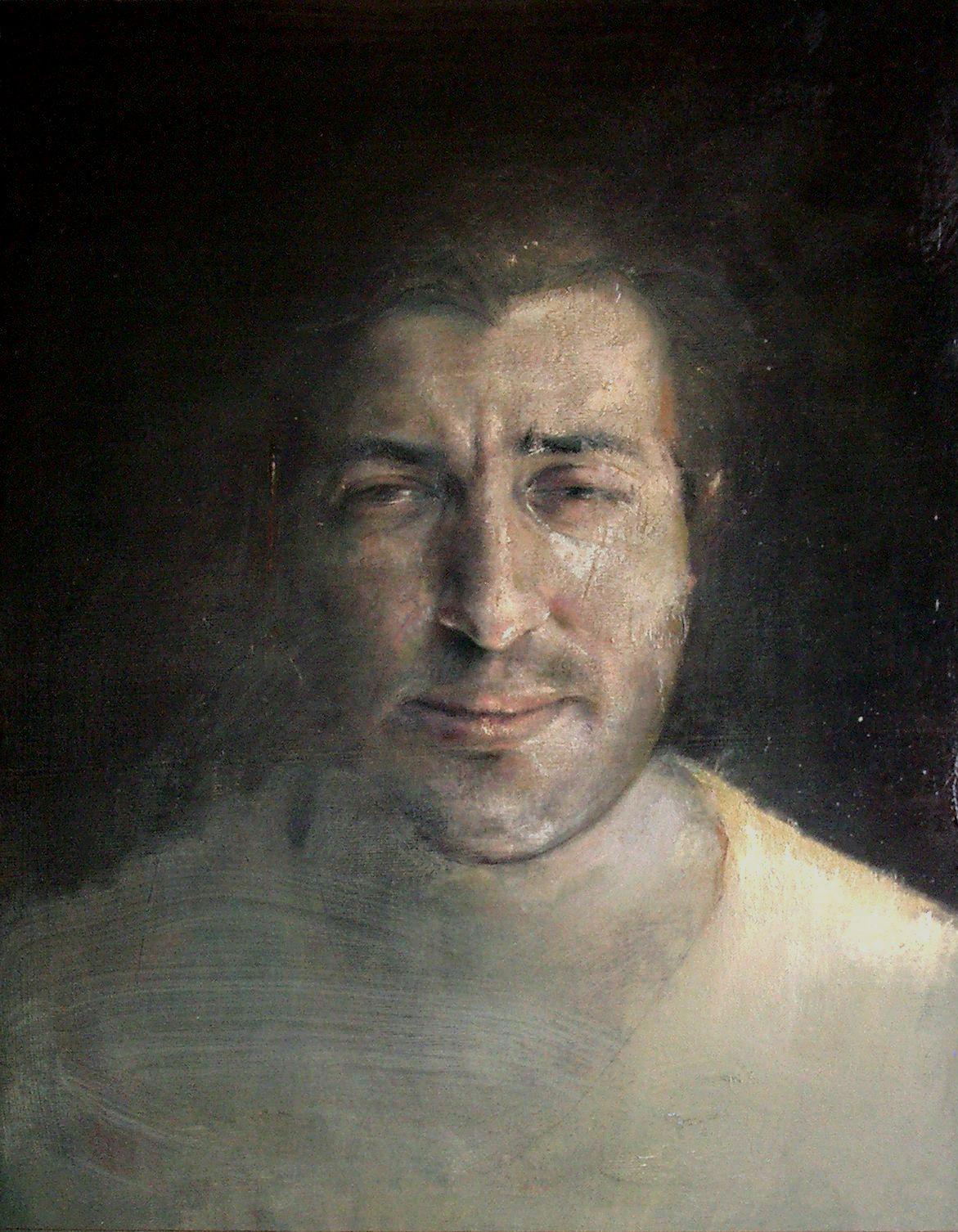 Ritratto di mio fratello Giuseppe, olio su tela, cm 55x 42,5, 2006